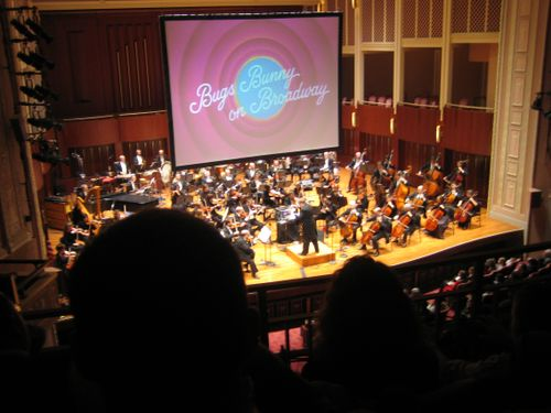 With orchestra